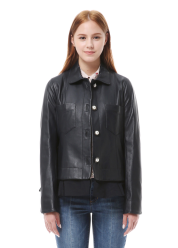 Flonge leather jumper