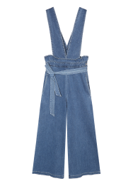 Baby suspender denim jumpsuit