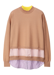 Moare stripe knit