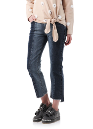 Twoblock skinny denim pants