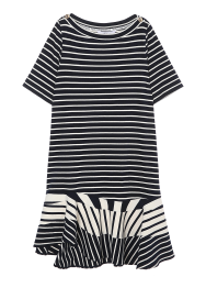 Schola stripe flare dress
