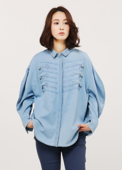 Captain denim blouse