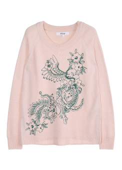 Dragon flower knit