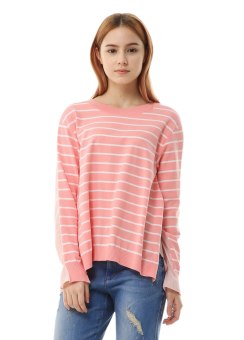 Header stripe knit