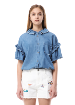 Bluemosk denim blouse