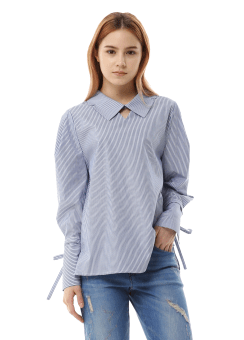 Royal stripe blouse