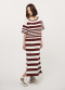 Maron knit dress