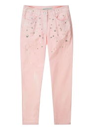 Ice beading denim pants