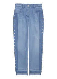 Pearl baggy denim pants
