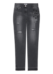 Star skinny denim pants