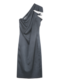 Cruz draping dress