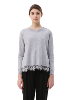 Woolly lace knit