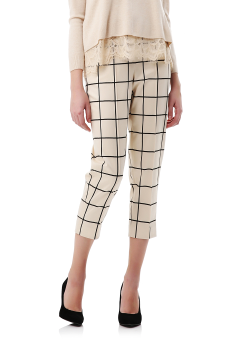 Cubism plaid pants