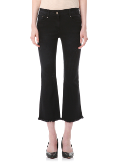 Black bruch cut denim pants