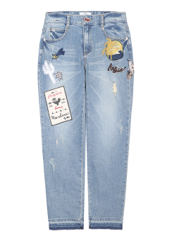 Wappen boy fit denim pants