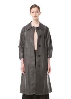 Semi vege leather coat