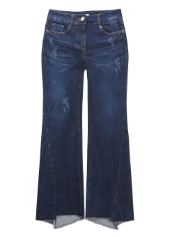 Unbalance brush cut denim pants