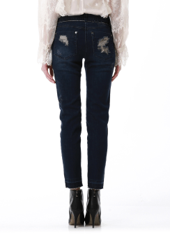 Damage denim pants