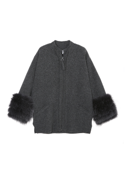Cluth knit coat
