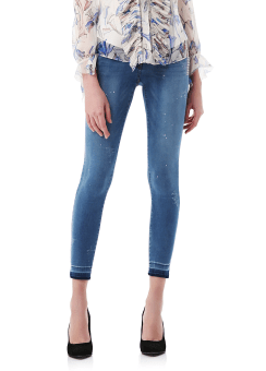 Hotfix skinny denim pants