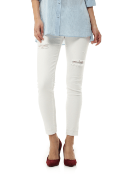 White vintage denim pants