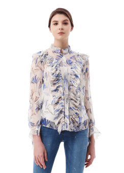 Jane packer print blouse