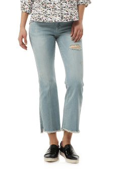 Unbal cut denim pants