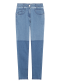 Two tone skinny denim pants