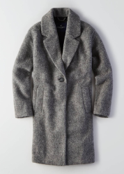 [Women] Long wool topper