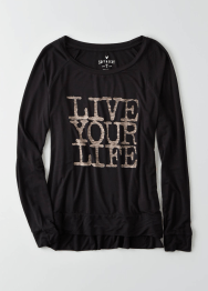 AEO Live Your Life Graphic