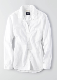 AEO Solid Button Down Shirt