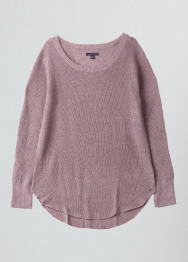 [Women] 7204 Fine GG shirttail sweater