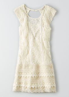 [Women] 9206 Woven allover lace shift