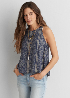 [Women] 6983 Petty lace up shell top