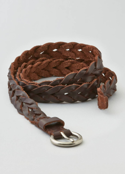 [Women] Skinny twist braid belt
