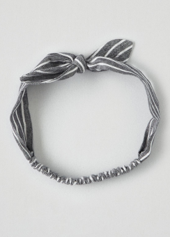 [Women] Striped bow headband