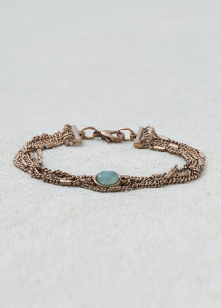 [Women] Green adventurine multi chain bracelet