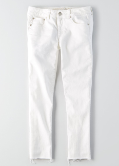 [Women] 9863 Bright white straight crop jean intl