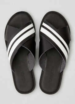 [Women] Striped x strap sandal
