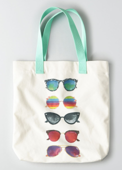 [Women] Cheerful graphic tote