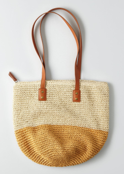 [Women] Mid size paper straw tote