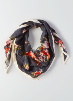[Women] Poppy floral diamond bandana