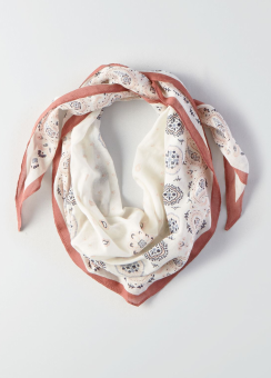 [Women] Paisley diamond bandana