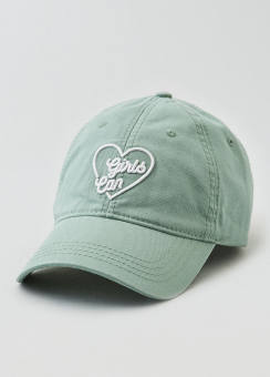 [Women] Embroidered graphic baseball cap