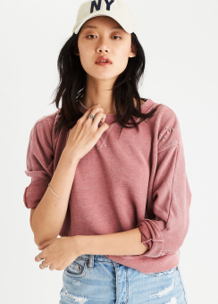 [Women] 8471 Boxy destroy dolman top