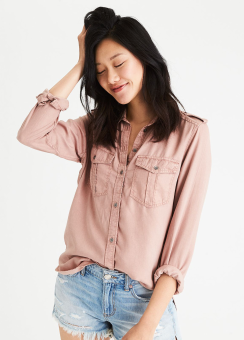[Women] Core tencel military shirt