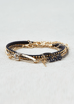 [Women] Black & gold arm party