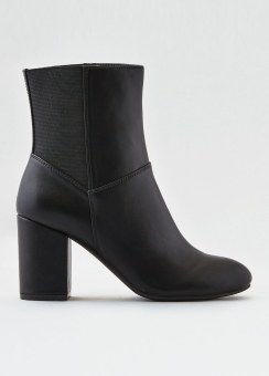 [Women] Back elastic high coverd heel bootie