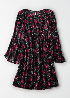 [Women] Intl printed bell shift