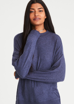 [Women] 8513 Oversized plush mock